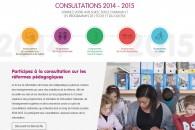 Projets de programmes de l'école élémentaire et du collège : lancement de la consultation nationale