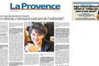 Notre réforme, c'est tout le contraire de l'uniformité – Entretien au journal La Provence