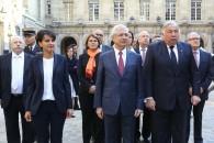Hommage à nos quatre héros résistants en Sorbonne, avant leur entrée au Panthéon