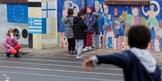 """Déplacement de la ministre Najat Vallaud-Belkacem, présence de Claude BARTOLONE, pour présenter """"9 mesures pour les écoles de Seine-Saint-Denis"""", à Bondy, le mercredi 19 novembre 2014 - © Philippe DEVERNAY"""