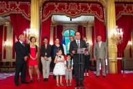 Remise du prix de l'Audace artistique et culturelle 2015 à l'Élysée