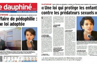 Une loi qui protège les enfants contre les prédateurs sexuels – Entretien au Dauphiné Libéré
