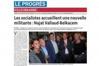 Les socialistes de Villeurbanne accueillent une nouvelle militante : Najat Vallaud-Belkacem