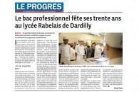 Le bac professionnel fête ses trente ans au lycée Rabelais de Dardilly – Reportage du Progrès de Lyon