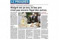 «Najat Vallaud-Belkacem VRP du Bac Pro» – Reportage du Progrès