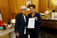 Remise du rapport de Christiane Demontès, Cheffe de la mission d'évaluation des partenariats avec le monde économique pour l'insertion professionnelle des jeunes