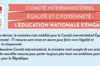Comité interministériel Égalité et Citoyenneté : l'Éducation nationale s'engage !