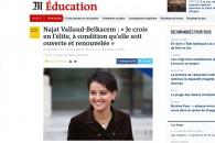 « Je crois en l'élite, à condition qu'elle soit ouverte et renouvelée » – Entretien au journal Le Monde