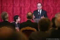 Le taux de réussite des projets de l'Agence Nationale de la Recherche (ANR) devrait passer de 8 % à 14 % dès 2016, annonce le président François Hollande