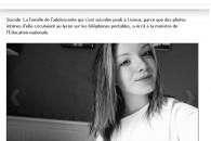 Suicide de Juliette : une immense tristesse et une priorité, la lutte contre le harcèlement