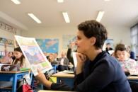 À Grenoble, Najat Vallaud-Belkacem lance le Dauphiné Libéré des enfants