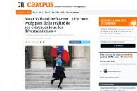 Un bon lycée part de la réalité de ses élèves, déjoue les déterminismes – Entretien au journal Le Monde