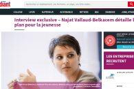 Najat Vallaud-Belkacem détaille le plan pour la jeunesse – Entretien à L'Étudiant