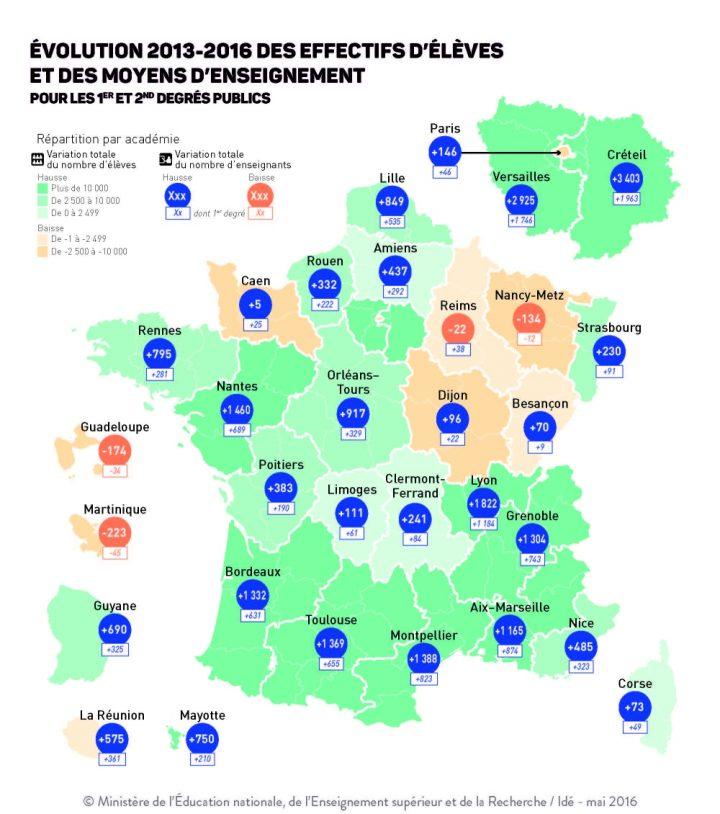 Refondation de l'Ecole : carte des moyens 2013-2016