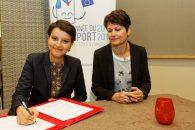 Signature par Najat Vallaud-Belkacem de conventions avec les fédérations sportives