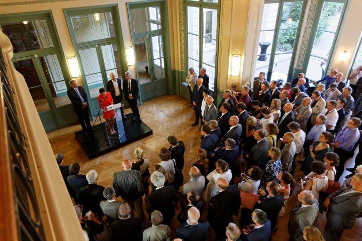 Intervention de la ministre Najat VALLAUD-BELKACEM à l'université d'été de la Conférence des Présidents d'Université, au CROUS de Paris 5e, le mercredi 31 Aout 2016 - © Philippe DEVERNAY
