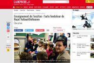 «Enseignement de l'occitan : l'acte fondateur de Najat Vallaud-Belkacem» – Reportage de La Dépêche du Midi