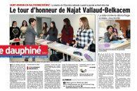 Le tour d'honneur de Najat Vallaud-Belkacem – Reportage du Dauphiné Libéré