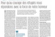 Najat Vallaud-Belkacem: pour qu'au courage des réfugiés nous répondions avec la force de notre honneur