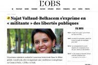 Najat Vallaud-Belkacem s'exprime en « militante » des libertés publiques